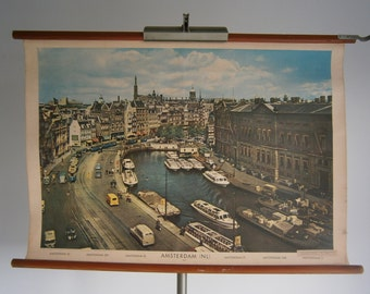 Vintage pull down school chart, Amsterdam (Rokin), The Nederlands