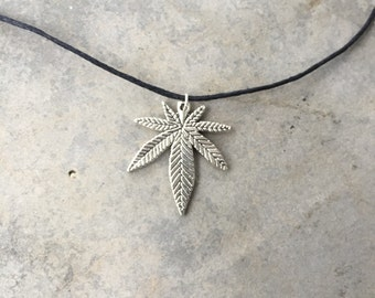 Herb Leaf Charm Necklace