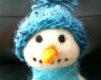 needle felted snowman