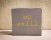 Be Still - Faith building block