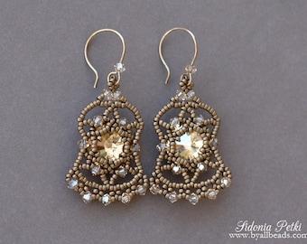 Beaded Earrings Tutorial - Bollywood Earrings - Beading Pattern - Digital Download