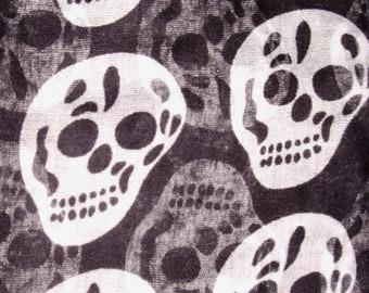 Skull scarf~ Day of the Dead skull print