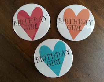 Birthday Pin/Party Pin/Birthday Girl Pin/21st Birthday Pin/Sweet Sixteen Pin/Number Birthday Pin