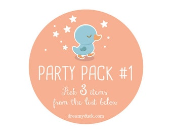 Printable Party Package 1: PICK THREE