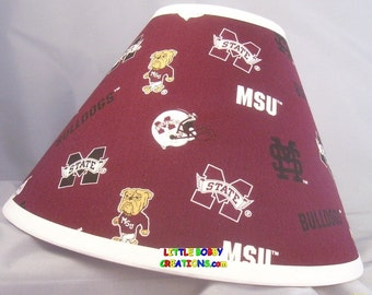 NCAA Mississippi State University Fabric Lamp Shade  (10 Sizes to Choose From!)
