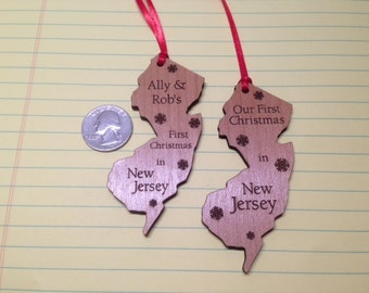 New Jersey State Ornament