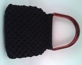 Vintage Black Knotted Han...