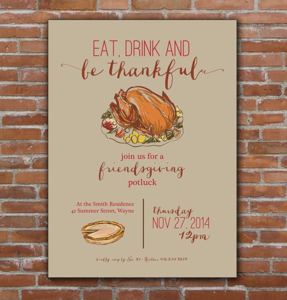 Epic image inside printable thanksgiving invitations