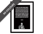 Theodore Roosevelt - Man in the Arena Speech - Typographic Print - American History - Teddy Roosevelt - Inspirational Motivational Quote Art