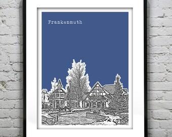 Frankenmuth Skyline Art Print Poster Michigan MI Version 1
