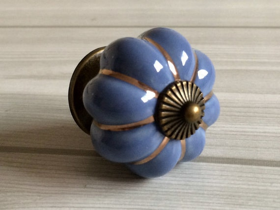 Blue Pumpkin Knobs Kitchen Cabinet Knobs Dresser Knob Drawer Knobs