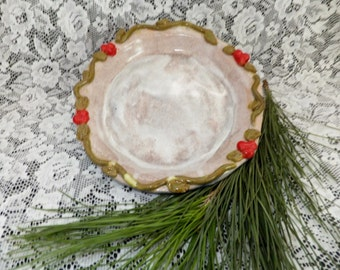 Handmade Ceramic Pie Pan, Quiche Pan, Wild Crow Farm, Pottery Pie Plate