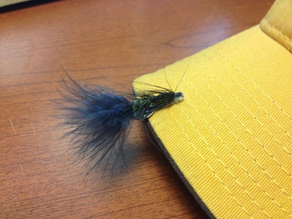 Green/Black Wooly Bugger Hat Clip