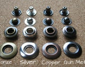 25 Ring Snap Fastener Buttons Poppers Copper, Bronze, Silver, Gun Metal Sizes 17mm, 20mm