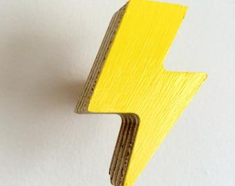 Wall Hook Lightning Bolt Yellow