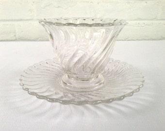 Fostoria Glass Company Colony Mayonnaise Set
