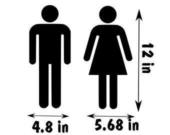 Toilet Washroom Restroom Door Sign Ladies And Gentleman Washroom As 15