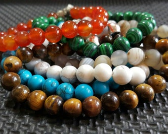 Gemstone Bracelet Gemstone Jewelry Beaded Bracelet Charm Bracelet