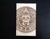 Mayan Calendar - Wood Burned - Tzolk'in