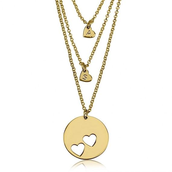 mother daughter necklace set 24k gold plated by onecklace. Black Bedroom Furniture Sets. Home Design Ideas