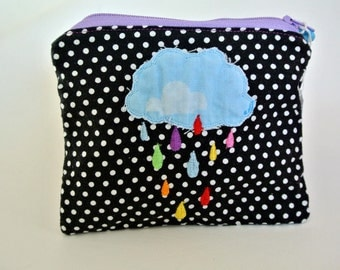 mini kit with embroidery, cloud, drops