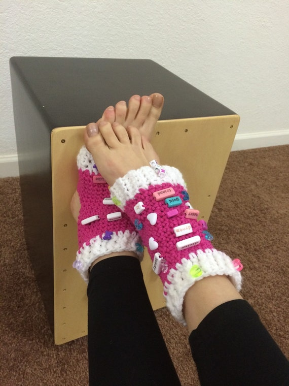 Crochet Pattern Yoga Pants : Crocheted Yoga Socks