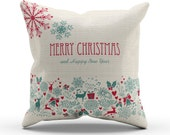 Christmas Pillow, Christmas Decoration, Reindeer, Santa, Snowman, lots of styles availalbe in 4 Sizes!!!
