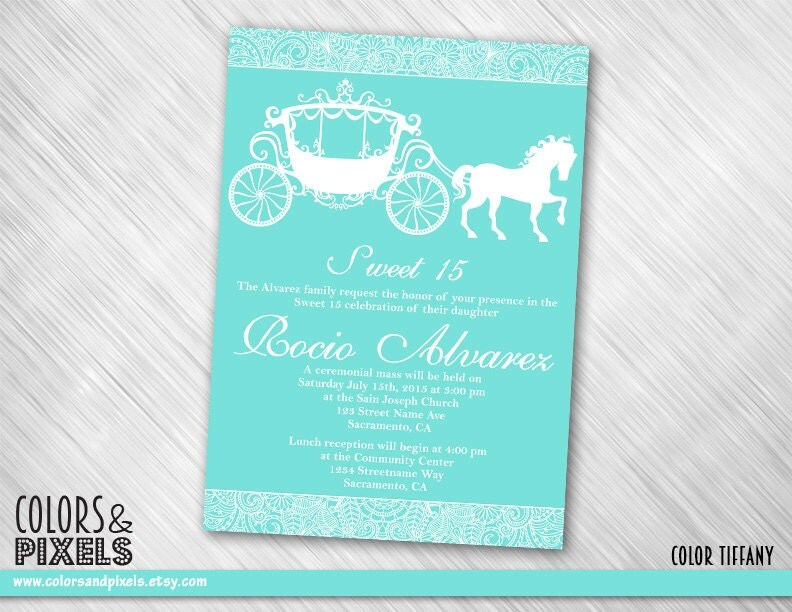 Quinceanera Invitation Quince Invitation Quinceanera Invite