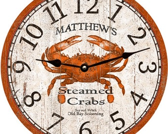 Crab Clock- Personalized Crab Clock