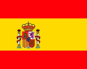 Spanish Flag Fridge Magnet 7cm by 4.5cm,