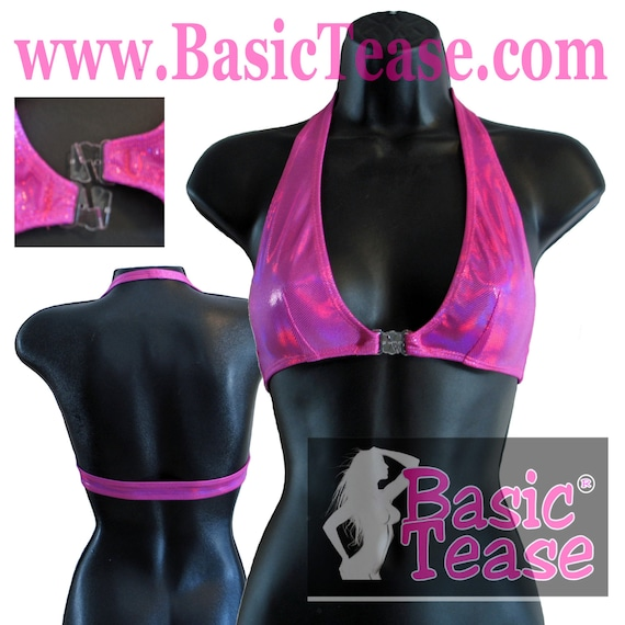 Hologram Halter Top With Break Away Front and Darts Under the Bust Line