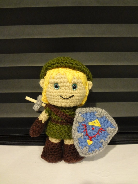 Crochet Amigurumi Link from Zelda by HandmadebyHolls on Etsy