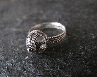 Silver ring,Filigree silver ring,Jewelry, Rings,Yemenite jewelry, Israel jewelry,Ethnic ring,Yemenite ring
