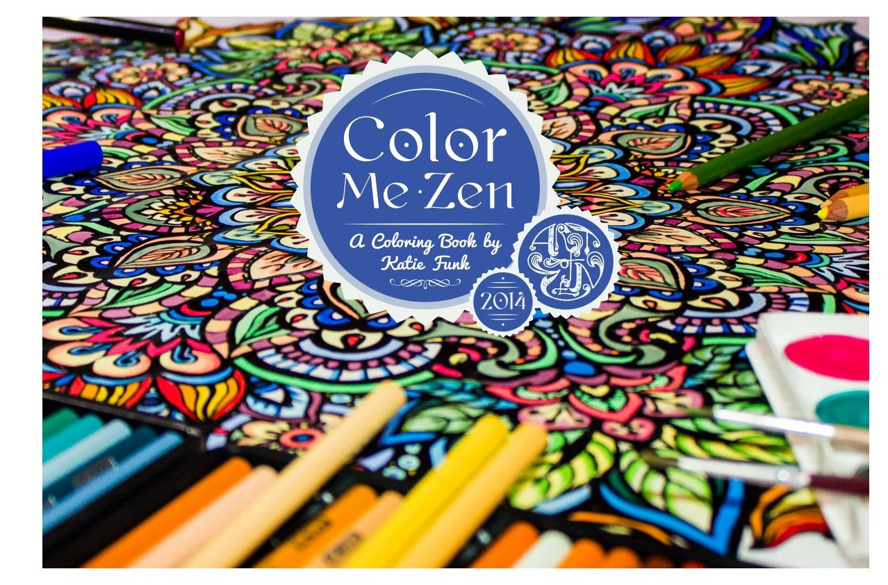 Color me zen a detailed coloring book for adults Zen coloring book for adults