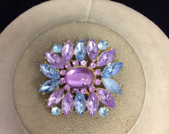 Vintage Purple & Blue Glass Pin