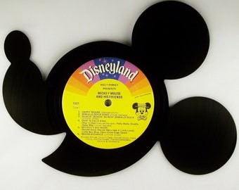 Recycled Vinyl Record Disney's MICKEY MOUSE Wall Art