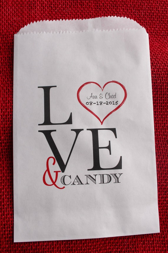 Wedding Favor Bags For Candy : Wedding Favor Bags-Candy Buffet Bags-Wedding bags Personalized