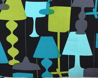 1 yard 100% cotton fabric by Michael Miller in Kelly's Lamps