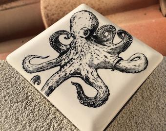 Octopus Ceramic Lidded Box