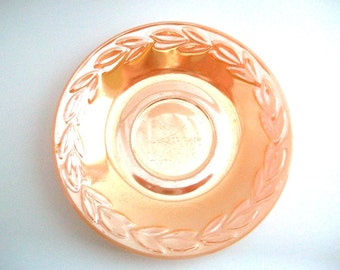 Vintage Fire King, Fire King Saucer, Lustreware Saucer, Peach Saucer, Peach Ring Dish, Peach Lustreware, Peach Fire King, Anchor Hocking