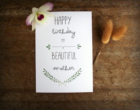 printable mother birthday card mum birthday card card mom birthday diy printing