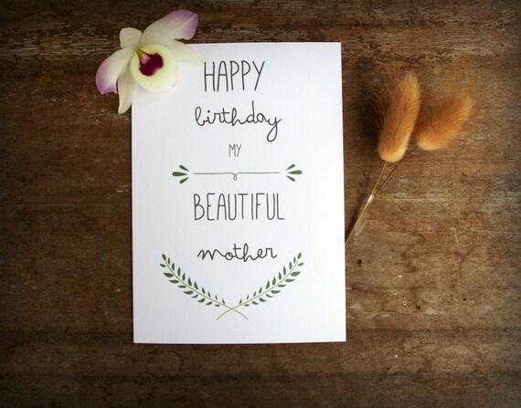 Printable Mother Birthday Card Mum Birthday Card Card Mom