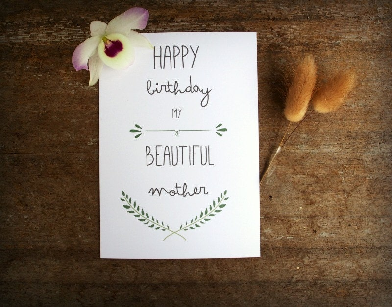 Printable Mother Birthday card Mum Birthday Card Card Mom