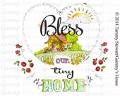 Bless Our Tiny Home - Horizontal Print