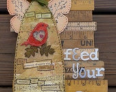 Feed Your Soul-Primitive Angel Hanging