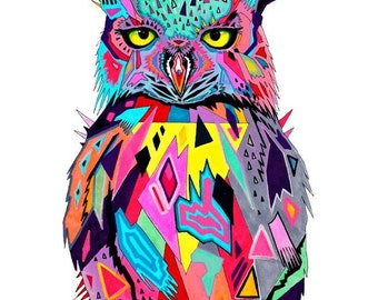 "Art Print ""Abstract owl"""