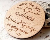 Wooden Save the Date magnet, wedding magnets, personalized save the date magnets, wedding save the date, set of 25