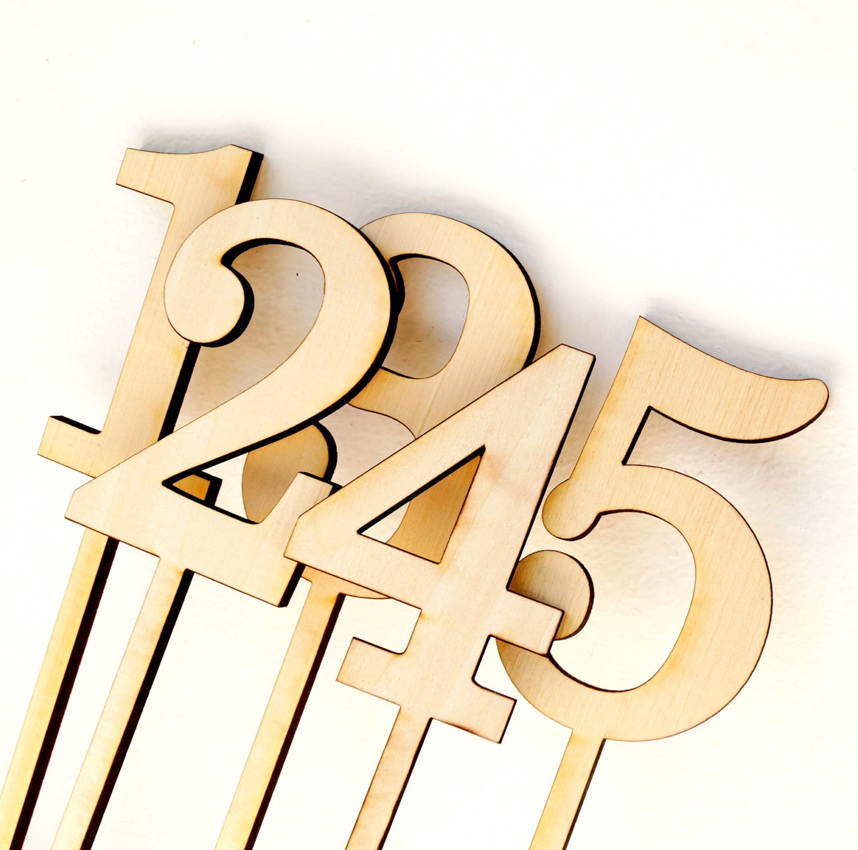 Wedding table number wooden numbers rustic weding