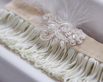 Gatsby style wedding garter, 20s Vintage Garter