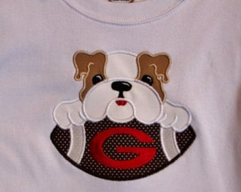 Bulldogs Boys Game Day Football Bodysuit, Infant Gown, or Tee